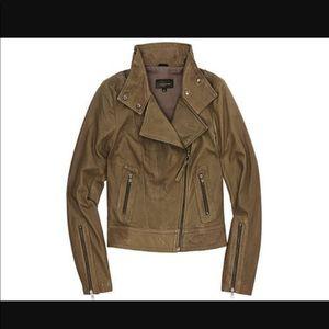 Mackage Aritzia Kenya leather jacket taupe small